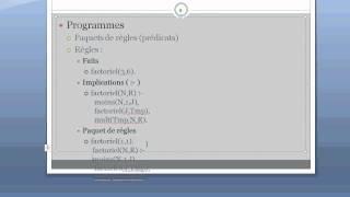Grammaire et Exécution - Mini cours Prolog 1/5