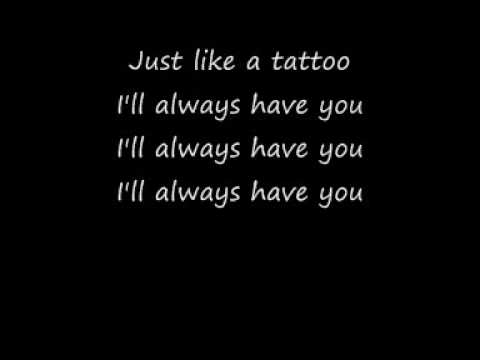 Jordin Sparks Tattoo with lyrics