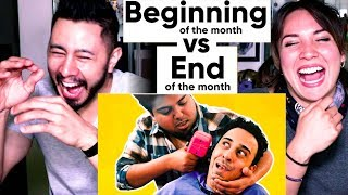 JORDINDIAN Beginning of the Month Vs End of the Month   Reaction   Jaby Koay & Miriam Macip