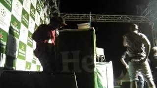 EDDY KENZO PERFORMING BALUMBA DJ ROJA (UGANDA) ON THE DECKS AT HEINEKEN UCL FINALS LEGENDS GROUNDS