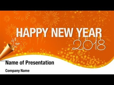 2018 happy new year powerpoint template backgrounds digitalofficepro 00855w