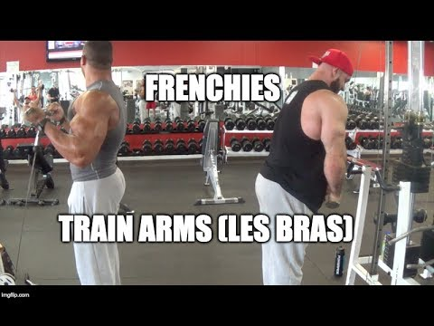 Antoine and Johan training de bras - Frenchies training arms! (turn subtitles cc ON )