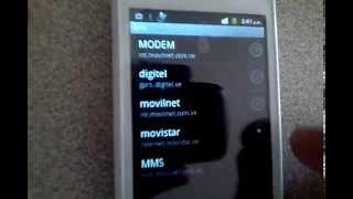 Configuracion de APN Movilnet Movistar Digitel Venezuela configurar red movil datos 3g g h+