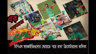 List of cricketers 'hold' of BPL franchisees / BPL 2017 / BANGLADESH PREMIER LEAGUE 2017