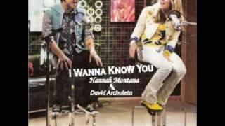 Hannah Montana feat. David Archuleta - I Wanna Know You Full Song HQ + Download
