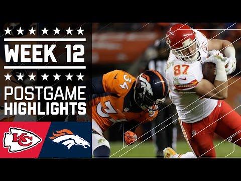 Chiefs vs. Broncos Week 12 Game Highlights NFL