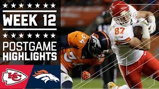 #5 Chiefs vs. Broncos | NFL Week 12 Game Highlights
