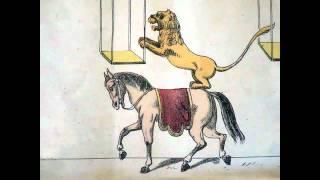 CHEVAL  LION  cirque Zoetrope ou Zootrope praxinoscope