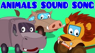 Animals Sound Song | Car Rhyme | Songs For Kids