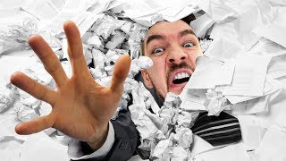 THE MAN MADE OF PAPER! | It