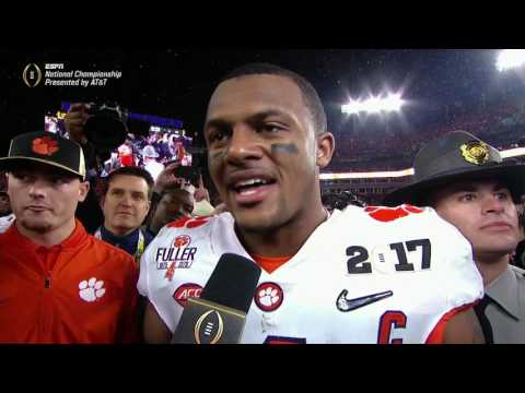 Watson emotional after Clemson s championship win