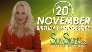 Birthday November 20th Horoscope Personality Zodiac Sign Scorpio Astrology