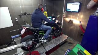 Testbank Kawasaki Z900 Full Akrapovic