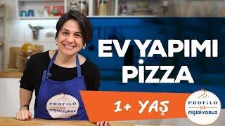 Ev Yapımı Pizza - Hamursuz Pizza (1+ Yaş) | Profilo ile Pişiriyoruz | İki Anne Bir Mutfak