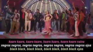 Aishwarya rai - Kajra re lyrics, Subtitulado al Español and English Subtitles