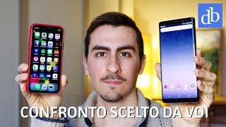 IL CONFRONTO SCELTO DA VOI! Galaxy Note 8 vs iPhone X ITA • Ridble