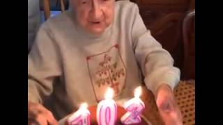 A Very Funny Video Old Women on his Birthday