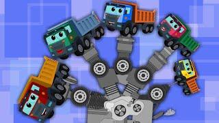 finger family song |dump truck for kids