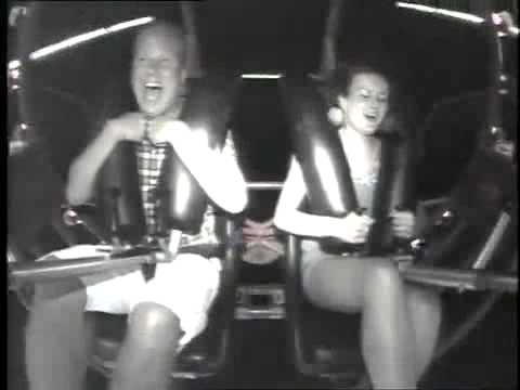 Girl Orgasms by Rollercoaster