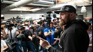 TYSON FURY KICKS OUT ESNEWS REPORTER FROM OPEN WORKOUT FOR BEING A HATER!!