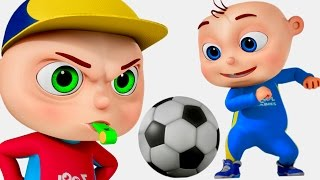 Zool Babies Playing Soccer | Five Little Babies Series | Cartoon Animation For Children