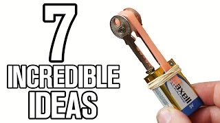 7 incredible ideas and Life Hacks