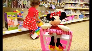 Mickey Mouse Doing Shopping / Supermarket Song / Toy Shopping Cart