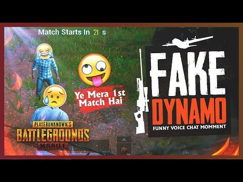 PUBG MOBILE FAKE DYNAMO IS HERE FIRST TIME PLAYING PUBG MOBILE 😂 🤣