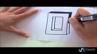 Cómo hacer la letra O en 3D - How to make the letter O in 3D