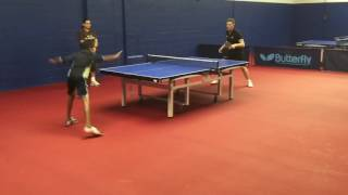 Sid and Nandan play Ilija Lupulesku (Lupi), 4-time US Men's Champion and Olympic Silver medallist