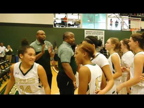 End of game Garrison Forest/Indian Creek basketball IAAM C final 02/19/17