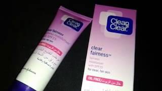 كريم clean clear لتبييض الوجه هل يستحق الإستعمال أم لا