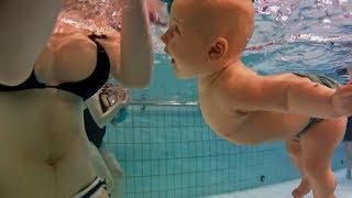 CAN NEWBORN BABY SWIM AND NOT DROWN? Puede recién nacido bebé nadar sin ahogarse?