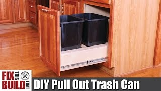 DIY Pull Out Trash Can in a Kitchen Cabinet | How to