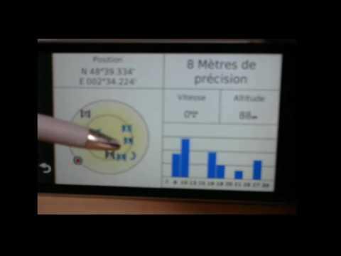 GPS GARMIN - Acces à l'écran caché des satellites FR