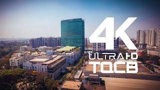 Bangalore City | Bengaluru | World Trade Centre | India | Stock Footage | Helicam India | 4K