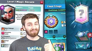 NEW MAGIC ARCHER IN-GAME & 9 WIN LUNAR CHALLENGE! | Clash Royale | FREE LEGENDARY CHEST!