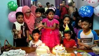 Happy Birthday ke 4 Aimy Adellia di Kota Bharu