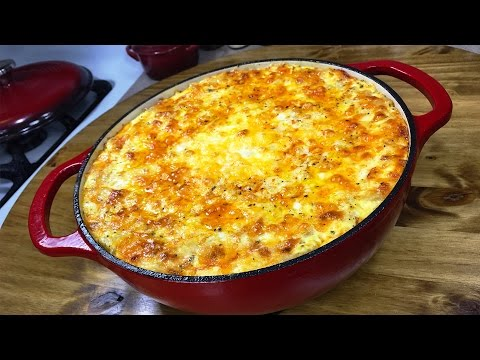 The Ultimate Five Cheese Macaroni and Cheese Lodge Enameled Cast Iron Dutch Oven