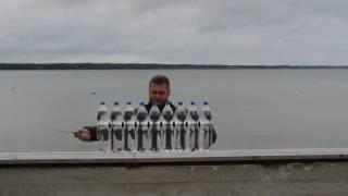 Kizlyar Supreme's knife SENPAI vs 9x1,5l of sparkling water (+ slow motion)