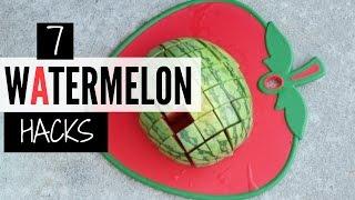 7 EASY WAYS TO PICK & CUT WATERMELON | Watermelon Hacks