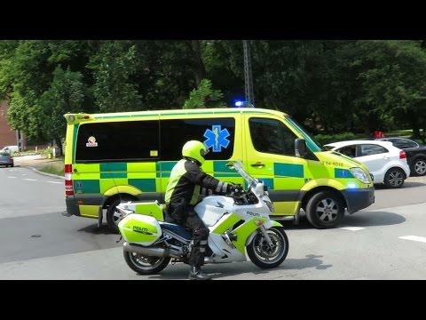 swedish ambulance in denmark 9310 from ängelholm