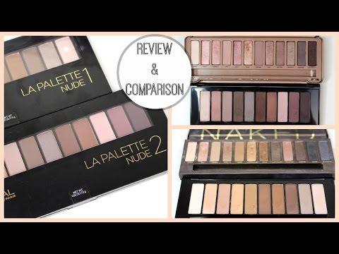 L'Oréal La Palette Nude 1 & 2 Review + Urban Decay Naked Palettes Comparison! | Bailey B.
