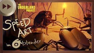 A Crawler Meeting   BLENDER SPEED ART