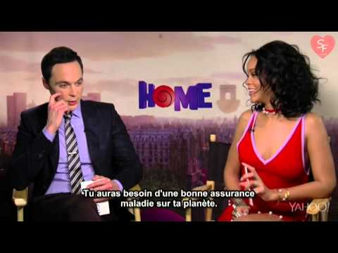 Rihanna and Jim Parsons BEST moments (HOME) (HD)