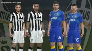 PES 2014 - Juventus New Kits 2014 - 2015 ( Home Away )