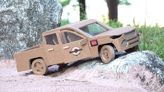 How To Make RC Car(pickup truck) - Easy Make Cardboard Car DIY