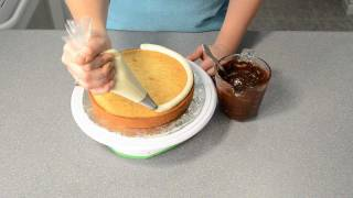 How to Fill & Torte a Cake: Simple Chocolate Ganache Recipe by Cookies Cupcakes and Cardio