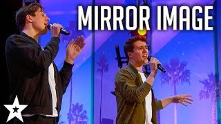 Mirror Image TWINS Perform With Great Personalities on America