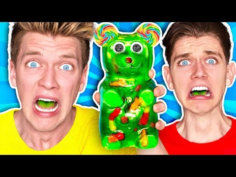 Mixing Every Sour Candy WORLDS SOUREST GIANT GUMMY Learn How To Make DIY Food Prank Challenge
